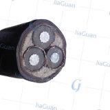 cabo distribuidor de corrente médio da tensão do fio redondo de alumínio do condutor 8.7/15kv