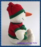 Weihnachtsplüsch-Spielzeug-Ausgangsdekoration-Schneemann