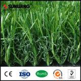 Grama sintética do verde da forma da decoração U para o jardim ao ar livre