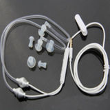 3.5mm Stereo Air Spring Conduit Earhook Headphone Anti Radiation Earphone für iPhone