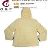 Revestimento Foldable de nylon brilhante das mulheres do bombardeiro de Hoody