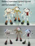 Crabots debout avec des yeux d'éclairage, 3 lumières d'Asst-Noël