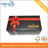 Rigid personalizzato Black Gift Paper Box con Ribbon (QYZ262)