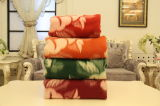 Textile de tissu de couvertures de jacquard de laines de Thibet-Moutons de 100%
