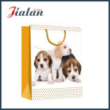 Großhandels4c gedruckter Hundeabbildung-Einkaufen-Träger-Geschenk-Papierbeutel
