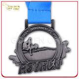 高品質の昇進のイベントのための柔らかいエナメルの金属の銀メダル