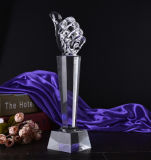 No. 1 Number One Prize를 위한 Thumb Crystal Trophy Award