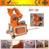 Bloco de bloqueio da argila hidráulica do tipo Sy1-20 de Shengya que faz a máquina em África