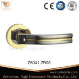 Дверь Staight лижа ручку на квадратной розетке (Z6094-ZR09)