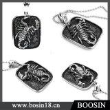 Collana Pendant del metallo dello scorpione impressa animale di modo per gli uomini