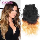 Corpo Wave Ombre brasiliano Clip in Hair Extensions