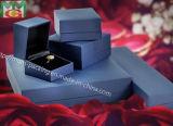 Caja de joyería plástica gruesa de encargo de lujo