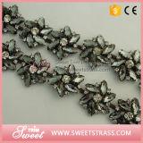 サンダルのガラスチェーン銀製の爪のコップの鎖の水晶