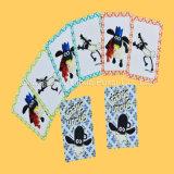 Напечатанные карточки карточек игры нестандартной конструкции пластичные пластичные играя