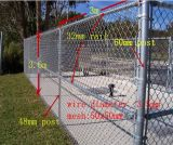 Загородка звена цепи гальванизировала используемую загородку звена цепи