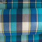 의복 셔츠 복장 Rls40-18po를 위한 면 포플린 길쌈된 털실에 의하여 염색되는 직물