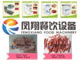 Stukken die van de Stroken van het Visvlees van de Kip van de Desktop de Economische Snijdende Machine voor Klein Restaurant snijden