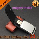 Movimentação de couro de dobramento do flash do USB do metal do Hasp novo (YT-5116-01L)