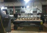 Máquina que têm o eixo oito, gravador do CNC do grande formato da madeira do CNC