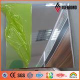 Paneling de alumínio do espelho 2mm de prata do quadro indicador 1220*2440mm