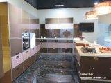 Hölzerner Muster hoch glatter UVmdf-Badezimmer-Schrank (ZH098)