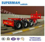3半車軸20FT容器のダンプのトラックのトレーラーかダンプカーのトレーラー
