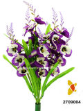 Artificial / Plastic / Silk Flower Pansy Bush (2709004)