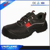 Chaussures de sûreté en cuir avec la piste r3fléchissante