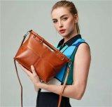 Pure Aceite Cera Classic bolso de cuero genuino para las mujeres