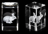 Claro K9 grado A 3D Laser Inside Cubo de cristal del bloque