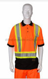 T-shirt de sécurité Hi-Vis à la mode avec ruban réfléchissant