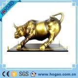 추상 예술 조각품 훈장 중국 구리 청동색 Bull 동상