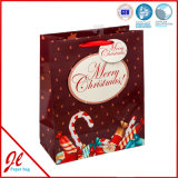 bolsos del regalo del papel de la Navidad de las bolsas de papel del regalo de la Navidad del copo de nieve 3D