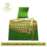 주문 Sport Medal Gold Finish, Competitive Price를 가진 Medallion