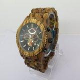 Het nieuwe Horloge van het Kwarts van de Schuurmachines van de Stijl Goedkope Houten Gestreepte Houten (hl-CD003)
