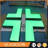 Segno acrilico della lettera del fronte impermeabile esterno LED