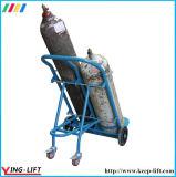 Caminhão de entrega dobro de aço da mão do cilindro de gás de quatro rodas