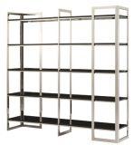 Новый Bookcase шкафа книги Ss отделки света типа с Toughened стеклом