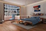 Grano de madera de PVC de plástico de la cubierta del piso