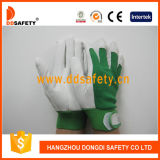 Ddsafety 2017 Pig Grain Leather Green Elastic Cuff Pig Leather Luves
