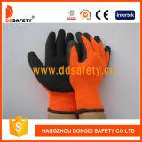 蛍光性オレンジはさみ金の黒の乳液のしわの終了する手袋Dcr101