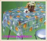 Couverture transparente estampée par PVC bon marché de nappe/Tableau