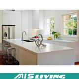 Muebles de madera de la cabina de cocina con los golpecitos de la marca de agua (AIS-K018)