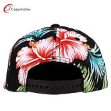 Allover Red Flower Printing Snapback Baseball Cap mit 3D Embroidery