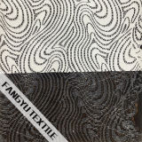 Белая спиральн ткань шнурка для платья