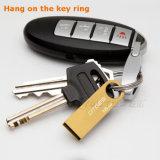 Movimentação pequena do flash do Keyring USB3.0 do metal do presente quente da promoção (YT-3295-02)