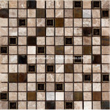 Style rustico Marble Mosaic Tiles con Plated Glass in 2016 (F 1221)