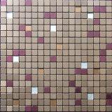 Mattonelle di mosaico autoadesive di alluminio all'ingrosso dell'oro della decorazione interna Rj