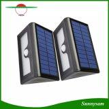 Neue 50 LED-Solarlichter imprägniern LED-Garten-im Freien Yard-Straßenlaterne-PIR Bewegungs-Fühler-Sonnenkollektor-Wand-Lampe mit austauschbarer Batterie