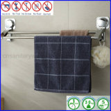 タオルのための二重ステンレス鋼棒が付いている壁に取り付けられた浴室の棚